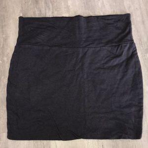 Skin tight mini skirt.